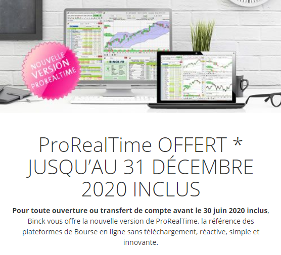 Offre speciale 2020 courtage binck